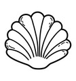 shell cartoon isolated vector image