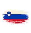 slovenian flag brush grunge background vector image vector image