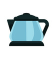 small blue kettle vector image vector image