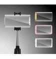 smartphones realistic selfie set vector image vector image