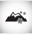 snow mountain on white background vector image vector image