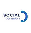 social logo chat logo design template vector image