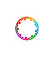social media network people logo - nine persons vector image vector image
