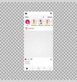 social network frame social post vector image vector image