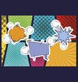 speech bubble with explosive comic pop art vector image vector image