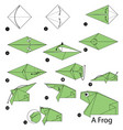 step instructions how to make origami a frog vector image vector image