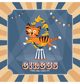 Vintage card with cute tiger vector image vector image