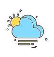 weather icon design vector image