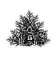 christmas black vector image