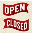 Open closed symbol vector image