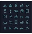 furniture icon set on a black background vector image