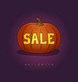 halloween sale vector image