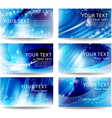 Set cards with a blue background vector image