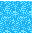 Circle With Anchor Shape Seamless Pattern vector image