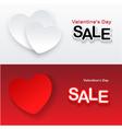 heart banner vector image