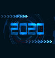 2020 new year banner in futuristic style vector image vector image
