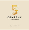 5 company logo design with white background vector image vector image