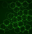 abstract background of hexagonal cells vector image