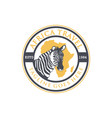 african travel emblem logo vector image vector image