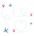airplane travel concept vector image vector image