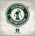alternative eco soil water stamp vector image