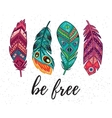 Be free card with ethnic decorative vector image vector image