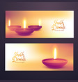 beautiful diwali season advertising banners set vector image vector image