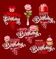 Birthday design elements set vector image vector image