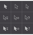 black mouse cursor icons set vector image vector image