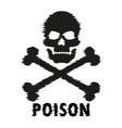 blurred silhouette skull crossbones poison vector image