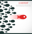 business leadership concept with red leader vector image vector image