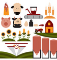 cartoon flat design icons of agriculture vector image