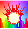 colorful background with banner vector image vector image