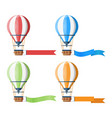 colorful hot air balloons set vector image