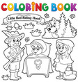 coloring book fairy tale theme 1 vector image
