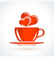 cup with hearts st valentines day design element vector image