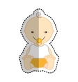 cute baby character icon vector image