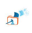 design logo folder with symbol law or court vector image vector image