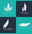 design logos with feathers templates vector image
