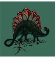 Dinosaur silhouette on isolated background color