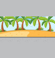 empty scene with beach landscape and long street vector image vector image