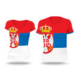 Flag shirt design of Serbia vector image vector image