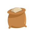 flour bag icon flat style vector image vector image