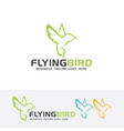 flying bird logo design vector image vector image