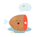 funny cute meat character keto diet lover vector image