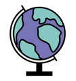 globe to study geography model earth planet vector image