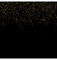 Golden glitter shine texture on a black background vector image