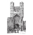 gothic architecture city gate in york during vector image vector image