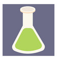 green chemical on white background vector image vector image