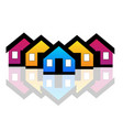 group of houses neighborhood vector image